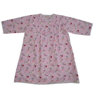 100% Cotton Longsleeve Nightdress - Pink Pony Print - Powell Craft - Ages 4-9 yr