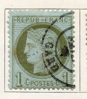 France 1870 Early Issue Fine Used 1c. 092595