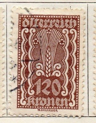 Austria 1922 Early Issue Fine Used 120kr. 092681
