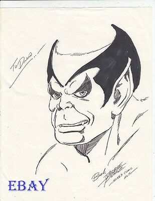The Beast pen drawing by George Perez