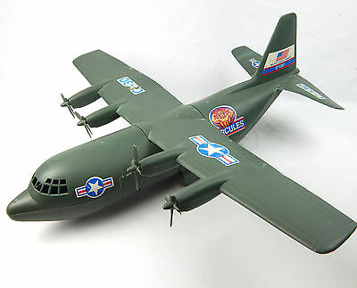 "Vintage Processed Plastics Co Large Hercules C-130 Army Plane 25"" USA Made"