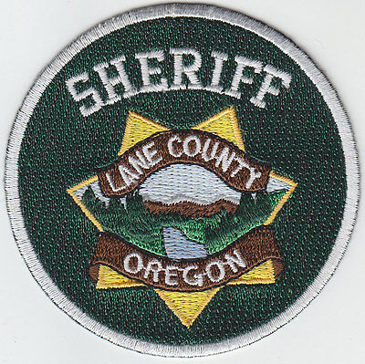 Lane County Oregon Sheriff MINI/HAT PATCH Round Version OR police