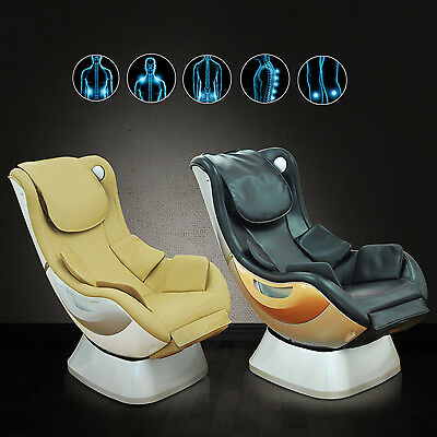 Electric Massage Chair PU Leather Seat Massaging Home Sofa Relax Stress Lounge