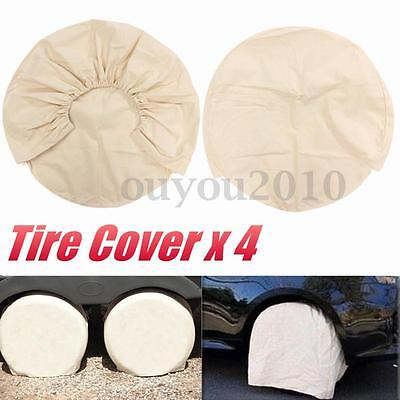 """4Pcs 25"""" Global Canvas Wheel Tire Covers For RV Auto Truck Car Camper Motorhome"""