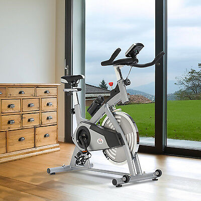 Stationary Exercise Bike Indoor Cycling Machine Cardio Fitness Home LCD Monitor