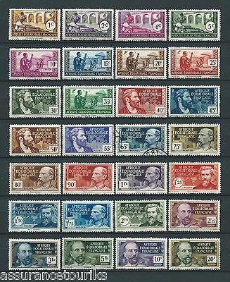 AEF - 1937-42 YT 33 à 62 - TIMBRES NEUFS**/*