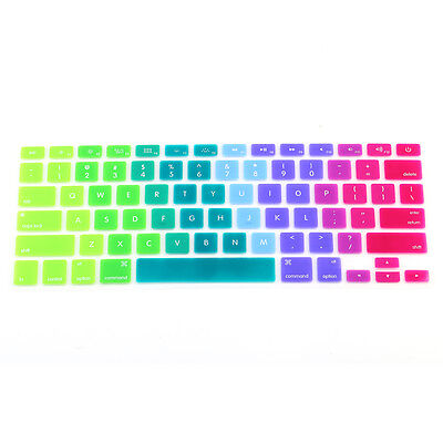 """Rainbow Keyboard Cover Skin Layout Silicone Protector for Macbook Pro 13"""" 15"""""""