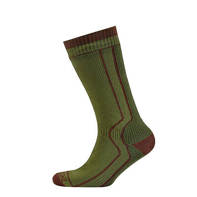 SealSkinz Trekking Thick Mid Waterproof Socks - Green