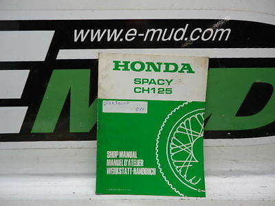 Supplement Manuel Atelier Honda 125 Ch Spacy 67Kj900Z