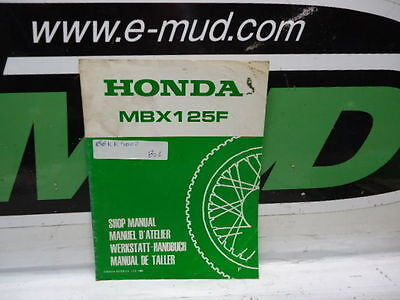 Supplement Manuel Atelier Honda 125 Mbx F 66Kk400Z