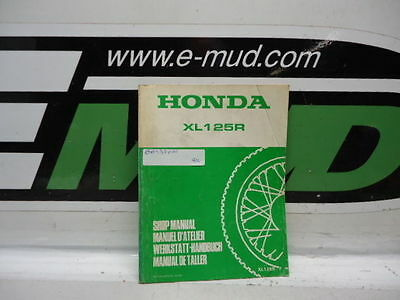 Supplement Manuel Atelier Honda 125 Xl R F 6643701W