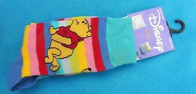 New 12.5-3.5 31-36 DISNEY Winnie the Pooh girls or ladies colourful ankle socks