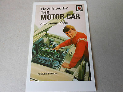 """POST CARD LADYBIRD size 4"""" by 6""""   THE MOTOR CAR    series 654"""
