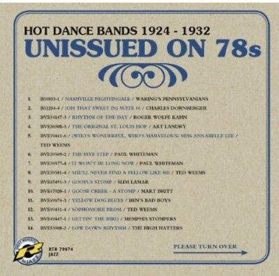 Various Artists - Unissued On 78s Vol. 3 [CD New]