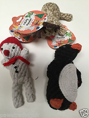 Christmas Good Girl Catnip Chewies Rope Toys Santa Penguin Reindeer Kitten CAT
