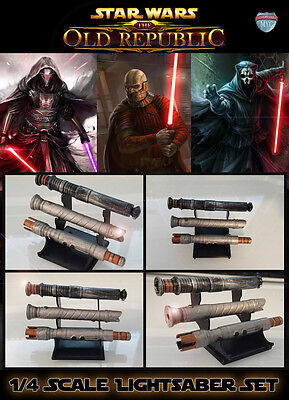 Custom Lightsaber Set for Star Wars 1:4 Statues Sideshow or others Nihilus Revan