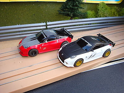 Used Complete Micro Scalextric Nissan Need Speed For Cars Good Running Condition