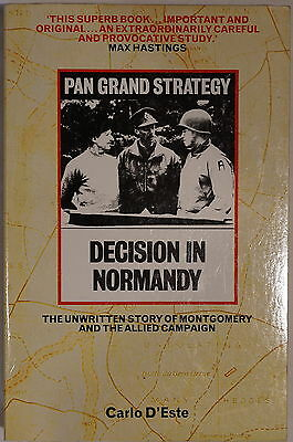 WW2 Pan Grand Strategy Decision in Normandy Montgomery & Allies Reference Book