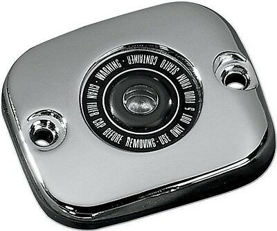 Chrome Front Brake Master Cylinder Cover With Sight Glass for Harley-Davidson