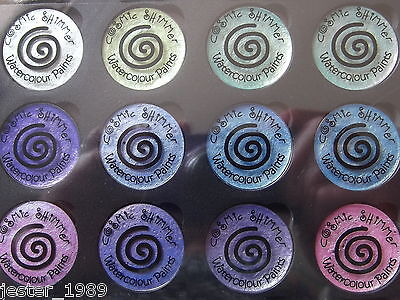 Cosmic Shimmer - IRIDESCENT WATERCOLOUR PAINTS - Set 4 SUMMER GARDEN