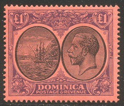 DOMINICA #85 Mint - 1923 £1 Violet & Black