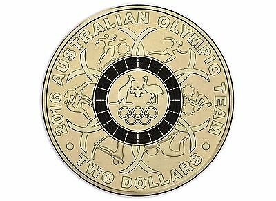 2016 Royal Australian Mint RAM - Rio Olympic Games $2 BLACK Coloured Coin