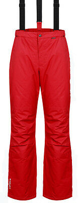 Mens Red Dare2b Qualify Stretch Ski Salopettes Pants Sizes Small Large SHORT LEG