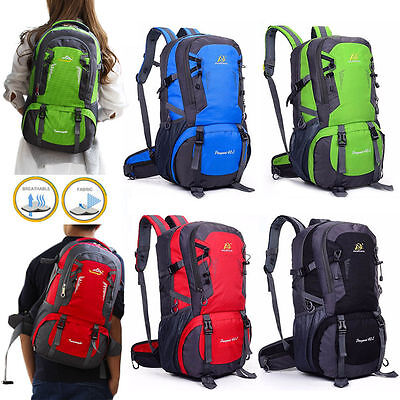 LARGE 40L Waterproof Outdoor Backpack Athletic Sport Hiking Travel Rucksack Bag