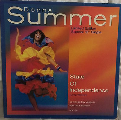 """DONNA SUMMER - State of Independence UK 12"""" Disco"""