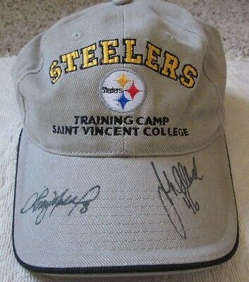 Vintage Tommy Maddox John Allred Auto Signed Cap Pittsburgh Steelers Rare