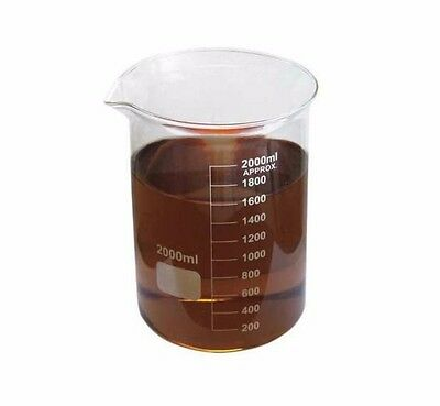 Lab Safety Supply 5Ygz8 Beaker, Glass, Low Form, 2000Ml (Mk-031/5Ygz8-Wh08-X2)
