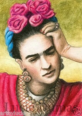 ACEO LE art print Frida Kahlo 7 from original painting by L.Dumas