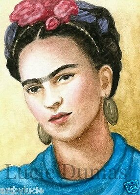 ACEO LE art print Frida Kahlo 8 from original painting by L.Dumas