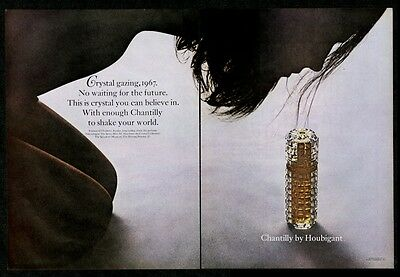 1967 suggestive woman photo Houbigant Chantilly perfume vintage print ad