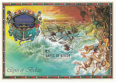 (91692) Cayes of Belize MNH Shipwrecks Minisheet 1985 unmounted mint