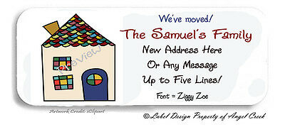 Moving Moved New Home House #2 Personalized Return Address Labels