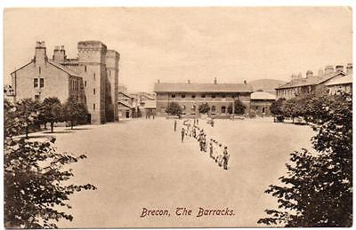 Early BRECON BARRACKS Wales Military Postcard