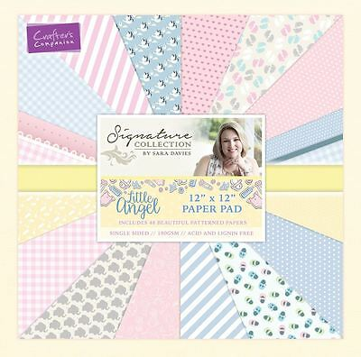 "Sara Davies Little Angel Signature Collection - 12x12"" Baby Craft Paper Pad"