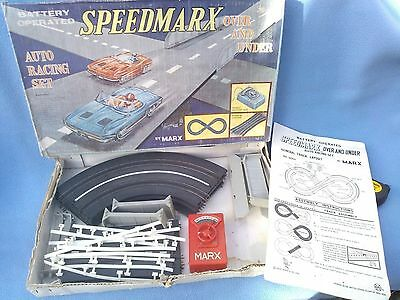 Vintage Marx (Hong Kong) Slot Car Speedmarx Part Racing Set.