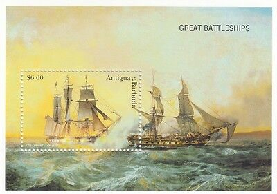 (91728) Antigua Barbuda MNH Great Battleships Minisheet unmounted mint