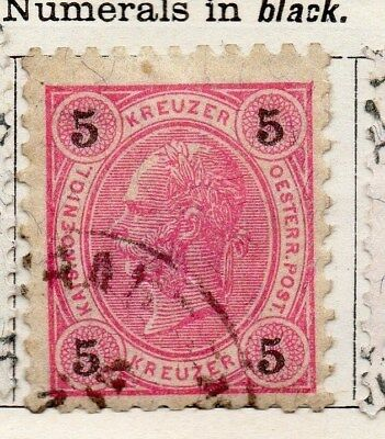 Austria 1890 Early Issue Fine Used 5kr. 093412