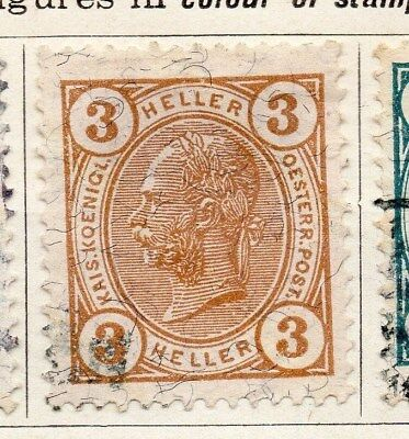 Austria 1904 Early Issue Fine Used 3h. 093456