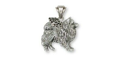 Keeshond Angel Pendant Jewelry Sterling Silver Keeshond Angel Dog Pendant KH1-AP