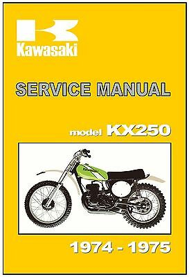 KAWASAKI Workshop Manual KX250 1974 & 1975 VMX Maintenance Service & Repair