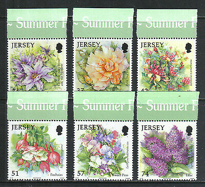 Jersey 2007 Summer Flowers--Attractive Topical (1275-80) MNH