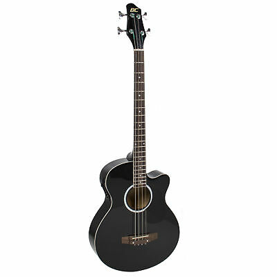 New Black Electric Acoustic Bass Guitar With Equalizer Solid Construction