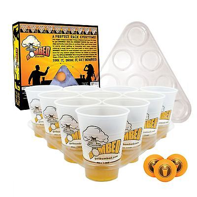 Beer Pong Drinking Game Set Kit 20 Cups 3 Balls 2 Racks Xmas Party Pub BBQ Gift