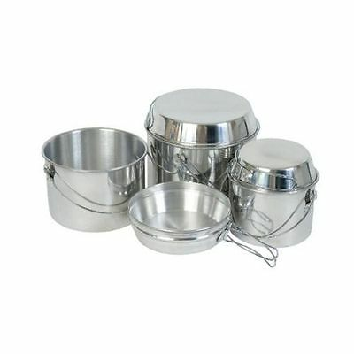 6 Pce Camping Cooking Billy Can Pots & Pans Set