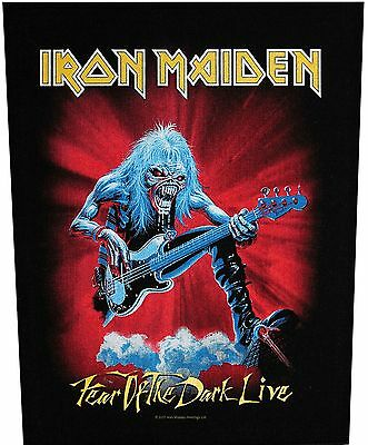 XLG Iron Maiden Fear Of The Dark Live Rock Music Woven Jacket Applique Patch