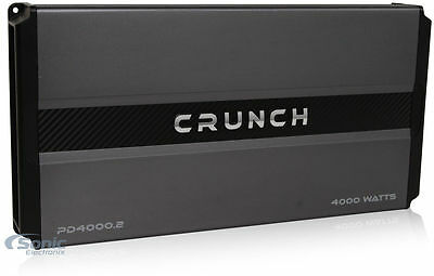 Crunch Power Drive 4000 Watt RMS 2 Channel AB Car Audio Power Amplifier PD4000.2